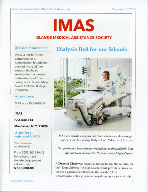 IMAS 2020 newsletter page 1